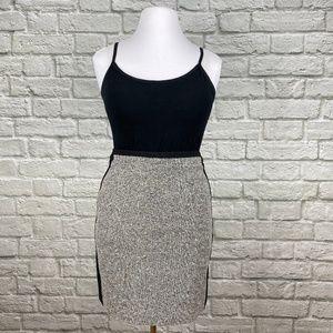 WHBM Tweed Panel Pencil Skirt